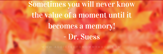 Sometime you will never know the value of a moment until it becomes a memory.- Dr. Suess.png